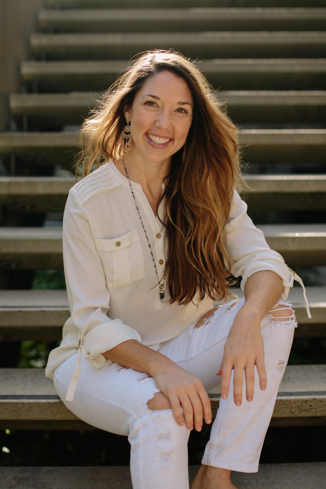 Kat Clayton yoga teacher and founder of Yoga Beyond Borders. Leads wellness yoga and meditation retreats and trainings globally.