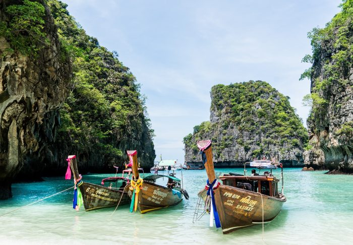 Thailand travel exotic destination boats in the ocean thai culture