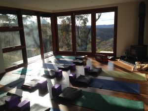Yoga Shala at the Blue Mountains Yoga and Meditation Retreat