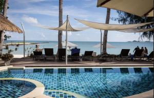 Samahita Pool view of ocean Thailand Retreat