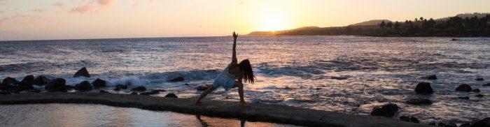 Yoga overlooking ocean newletter