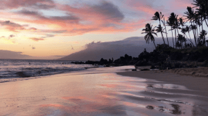 Hawaii Retreat Sunset on beach