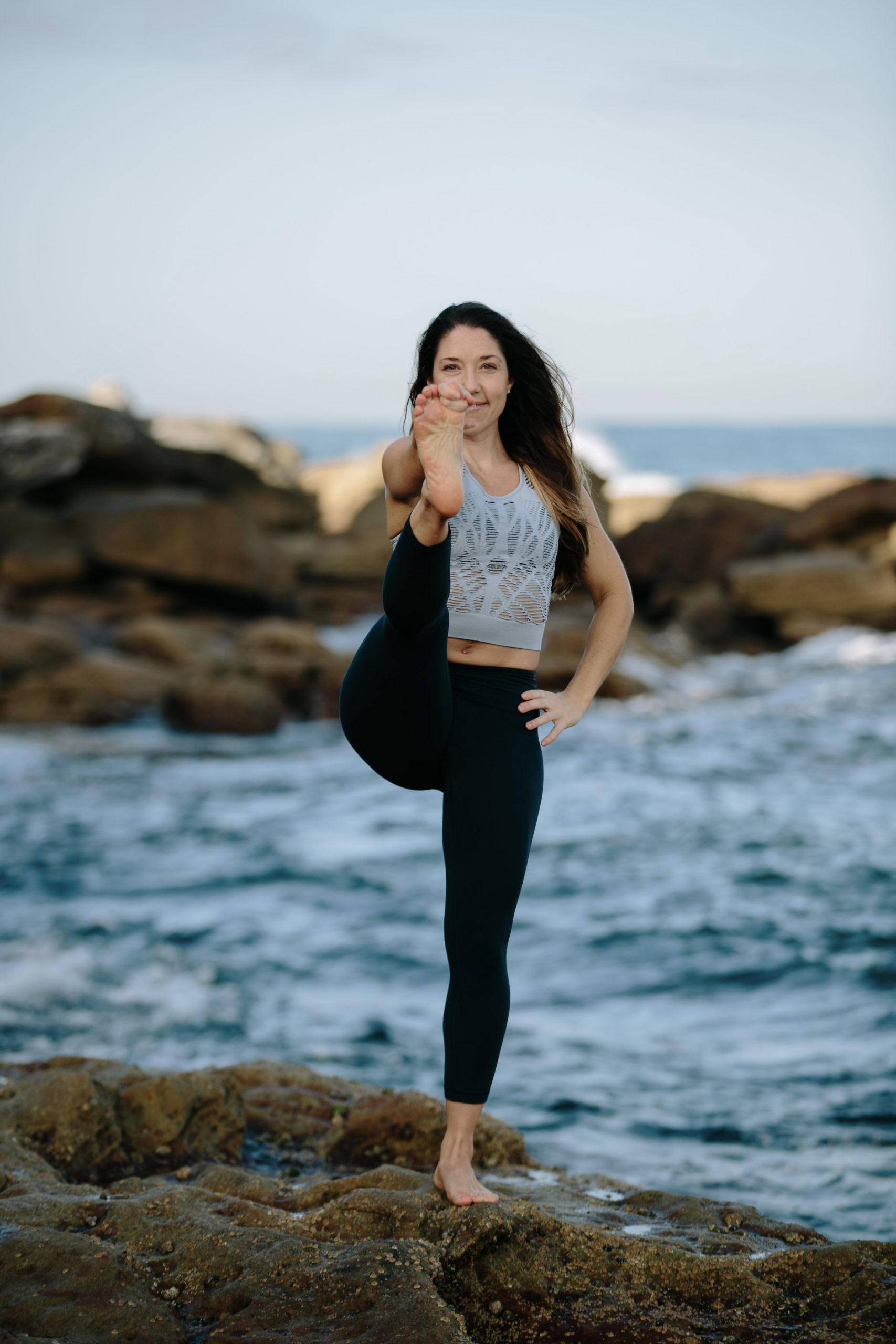 Kat Clayton Yoga Balancing Pose Hand to Big Toe