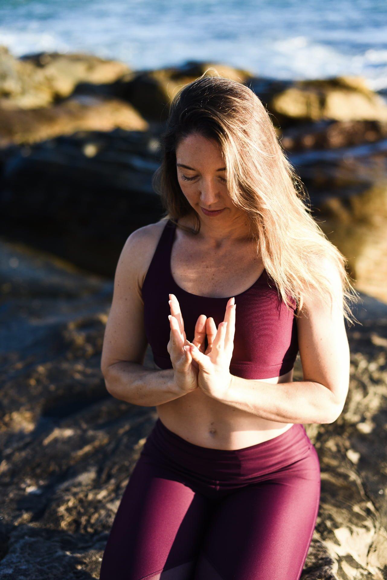 Kat Clayton Yoga Lotus Mudra