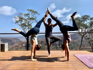 Blue Mountains Yoga Retreat Handstand practice