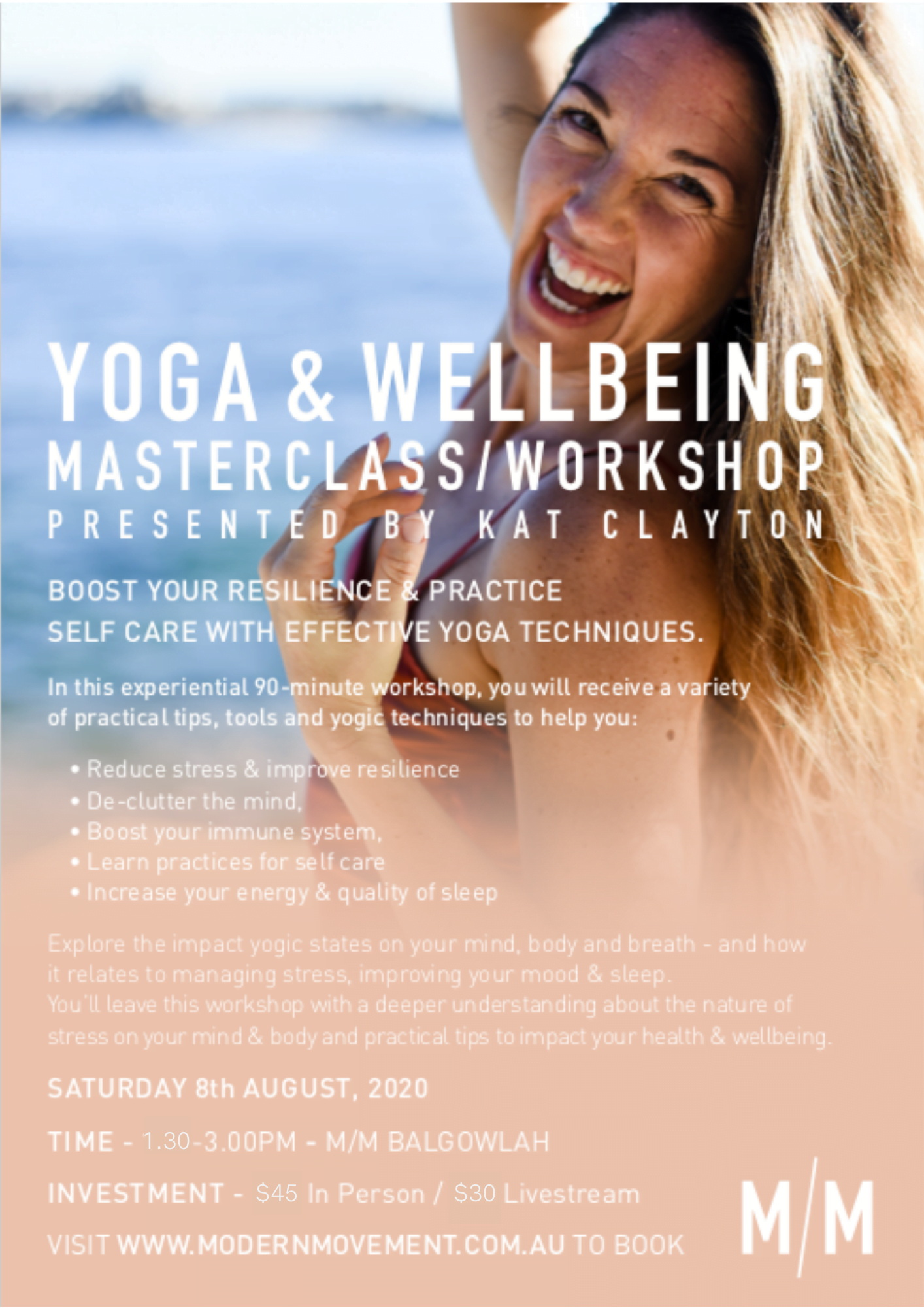 Yoga Wellbeing Workshop with Kat